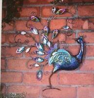 Peacock Facing back Diamante Wall Art Indoor Or Outdoor for Home And Garden