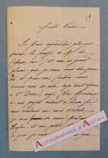 """L.A.S signée """"P de CABANES """" à identifier - Vienne - Casimir Duc - Lettre LAS"""