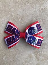 NY Giants Bow with Alligator Clip