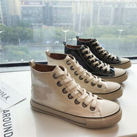 Men Canvas Shoes High Top Boots Casual Shoes Fashion Spring Outdoor Sneakers