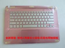 New SONY VAIO SVF142A29W SVF144 SVF1421 SVF1421Z2EP Pink Palmrest keyoard US