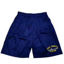 Uss Nimitz Cvn-68 Mens Athletic Jersey 2 pocket Mesh Basketball Shorts