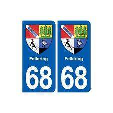 68 Fellering blason autocollant plaque stickers ville droits