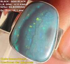 Black Opal 4.33 Karat 925er Silberring Größe 18,1 mm