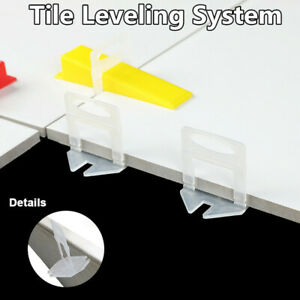 1000/2000pcs 2mm Tile Leveling System Wall Flooring Clips For Wall Floor Spacer