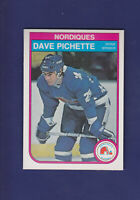 Dave Pichette 1982-83 O-PEE-CHEE OPC Hockey #289 (NM) Quebec Nordiques