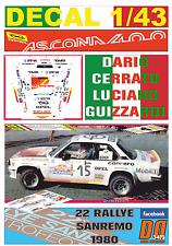 DECAL 1/43 OPEL ASCONA 400 CARIO CERRATO R.SANREMO 1980 DnF (04)