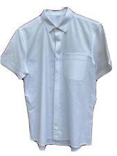 Lululemon Commission Shirt Sleeve golf tennis athletic dress Shirt M White.