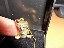 GOLD CHAIN H/MARK 925.& GOLD TONE MOVING TEDDY .WEIGHS 7.50 GRM.not scrap