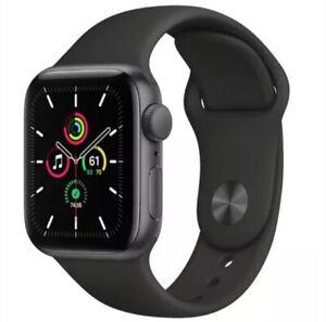 Apple Watch SE GPS 40mm Aluminum Case Black Sport Band A2351