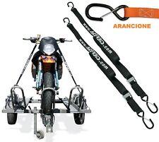 SET 2 CINGHIE ACERBIS 25MM FISSAGGIO MOTO TRASPORTO GANCIO SICUREZZA ARANCIONE