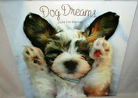"2020 Wall Calendar  DOG DREAMS   {12"" x 24 When Opened}"