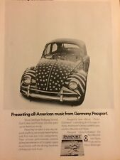 Passport, Full Page Vintage Promotional Ad