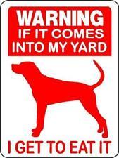 "0418 Coonhound, Redbone, Blue Tick 9""x12"" Aluminum Sign"