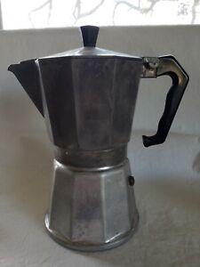 VTG Mini Percolator Italian Coffee Pot Vigano all Aluminum Stove Top Espresso