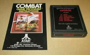 Combat With Manual for Atari 2600 Fast Shipping! Authentic