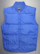 Vintage LANDS' END Down Vest Zip Front Men's Small Blue