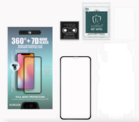 Full Body Screen Protector For iPhone Xs MAX (Front, Back & Camera lens Protec)