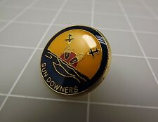 QUALITY MADE LAPEL HAT PIN ENAMEL SUN DOWNERS USN NAVY