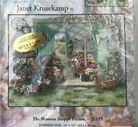 Candamar Designs The Blossom Shoppe Printed Cross Stitch Kit Garden Flowers