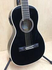 Caraya Parlor-590 Electric-Acoustic Guitar EQ Black+Gig bag,Tuner,String set