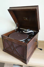 *A 1930s SOLID OAK HMV *MODEL 103A* TABLE-TOP GRAMOPHONE WITH #5A SOUNDBOX*