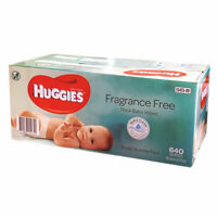 640 HUGGIES Thick Baby Wet Wipes Bulk Mega Pack Fragrance Free