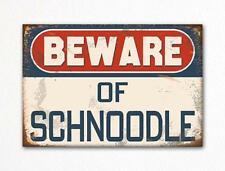 Beware of Schnoodle Dog Breed Cute Fridge Magnet