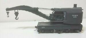 Chestnut Hill Western Railroad X75 Tichy Wrecking Crane Built Kadee Coupler HO
