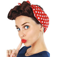 W393 40s 50s Peggy Plum Pin Up Vintage With Curl Costume Wig Headband War