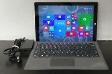 "Microsoft Surface Pro 3 Intel i5-4300U 1.90GHz 128GB 4GB 12"" Tablet & Keyboard"