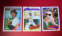 1980 1988 1989 TOPPS JIM RICE BOSTON RED SOX #200 #675 #245 MINT CARDS ALL-STAR