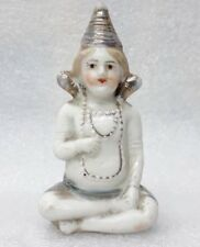 Antique Porcelain Figure Statue Hindu God Saint Monk Meditation Pose Sculpture