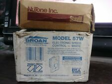 LOT OF 2 WALL MOUNT SWITCHES BROAN FAN CONTROL NUTONE VENT/HEAT NEW IN BOX