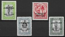 Papua New Guinea 1935 KGV SG 150/153 Never Hinged Mint with SG 152a Accent flaw