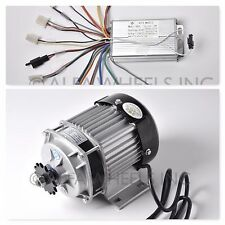48 Volt 350 Watt Electric Go Kart Quad Brushless Motor Gear 500 RPM w Controller