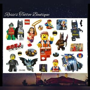 LEGO BATMAN Temporary Tattoos 🇬🇧 Boys kids Stocking fillers Party Loot bags 🎁