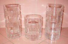 Vintage 1993 Ralph Lauren 3 Glen Plaid Highball + Old Fashioned Glasses Tumbler