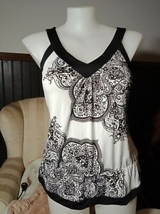 Size 16 Millers top silky black and white stretchy