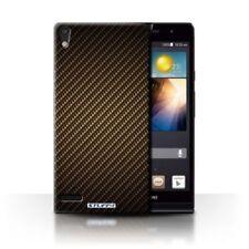 Fundas y carcasas brillantes de color principal oro para teléfonos móviles y PDAs Huawei