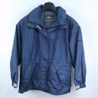 ELHO HI-TECH Mens Navy Blue Lightweight Windbreaker Hooded Jacket SIZE Large, L