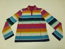 Old Navy Girls Large Multi Color Stripe Fleece Zip Neck Shirt Great Condition