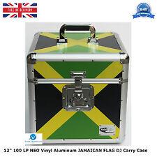"2 X NEO Aluminum JAMAICAN FLAG Storage DJ Carry Case for 100 Vinyl LP 12"" Record"