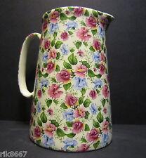 Heron Cross Pottery Sweetpea 4 Pint English Milk Jug very big (vase)
