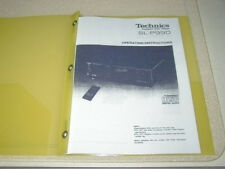 TECHNICS SL-P990 COMPACT DISC OPERATING INSTRUCTIONS