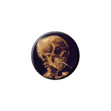 Skull with a Burning Cigarette by Van Gogh - Metal Lapel Hat Pin Tie Tack