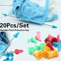 20pcs Rubber Knitting Needles Crochet Craft Caps Point Protectors Sewing Tool