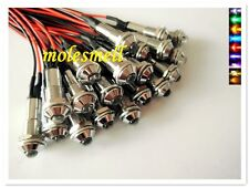 5mm round 5V DC Pre-Wired multicolor water clear led with chrome Bezel holder
