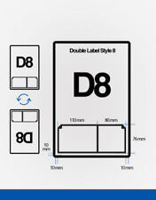 1000 Double Integrated Labels D8 A4 Stickers Ebay Invoice 110X76 80x76 mm