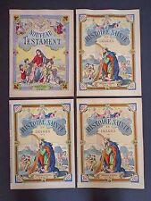 4 Imagerie D'Epinal books: Nouveau Testament, Histoire Sainte No.1,2 & 3 INV1900